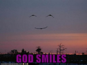 God smiles