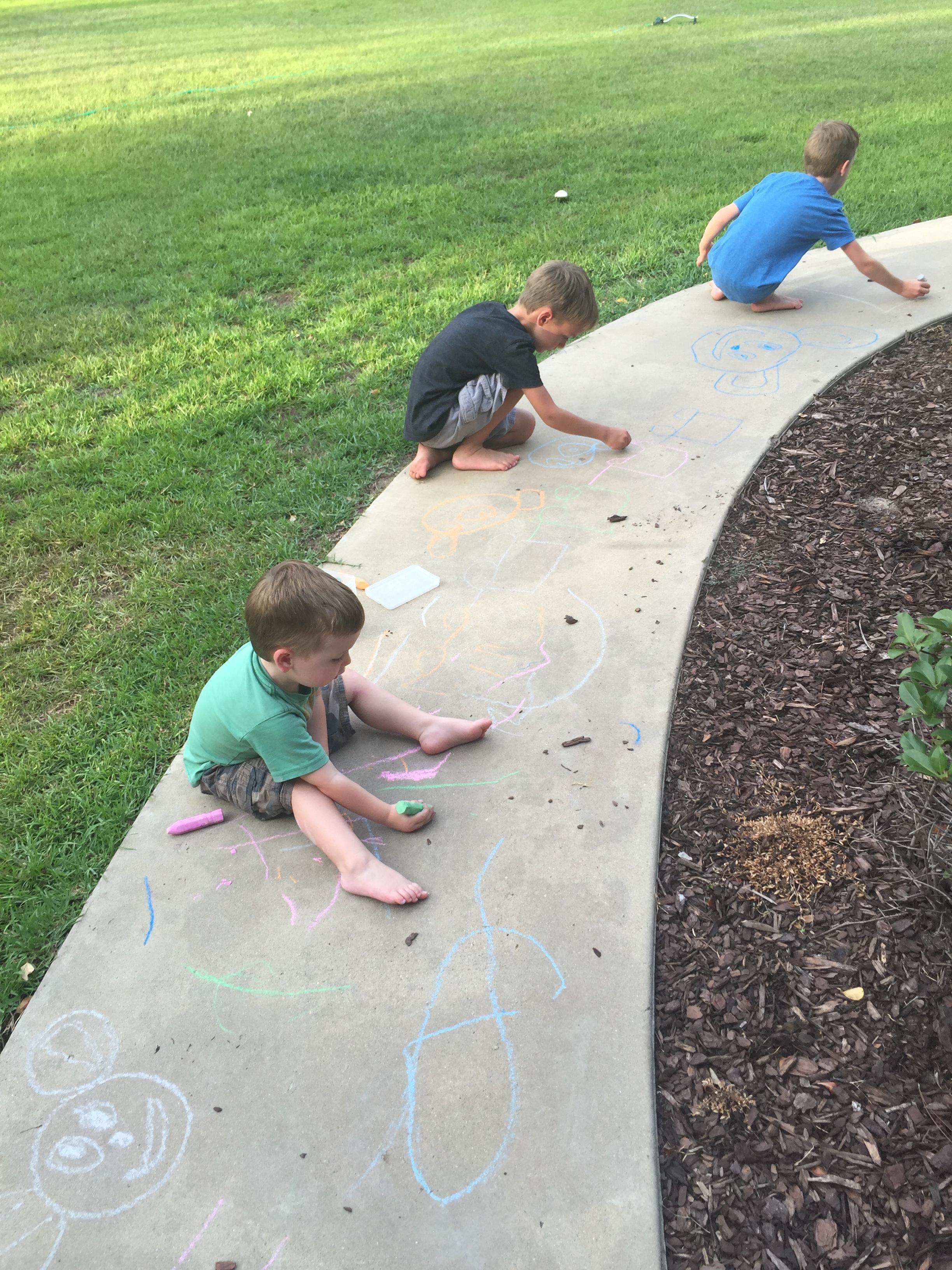 side walk chalk